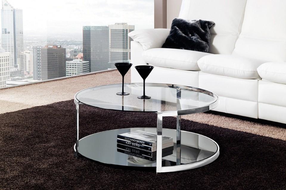 Mesa de centro redonda 3750 altinox for Mesas redondas de cristal y acero