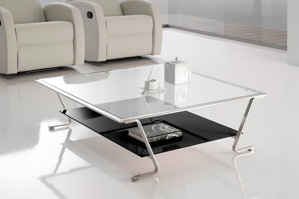 Mesa de centro picasso altinox - Mesas de cristal y acero ...