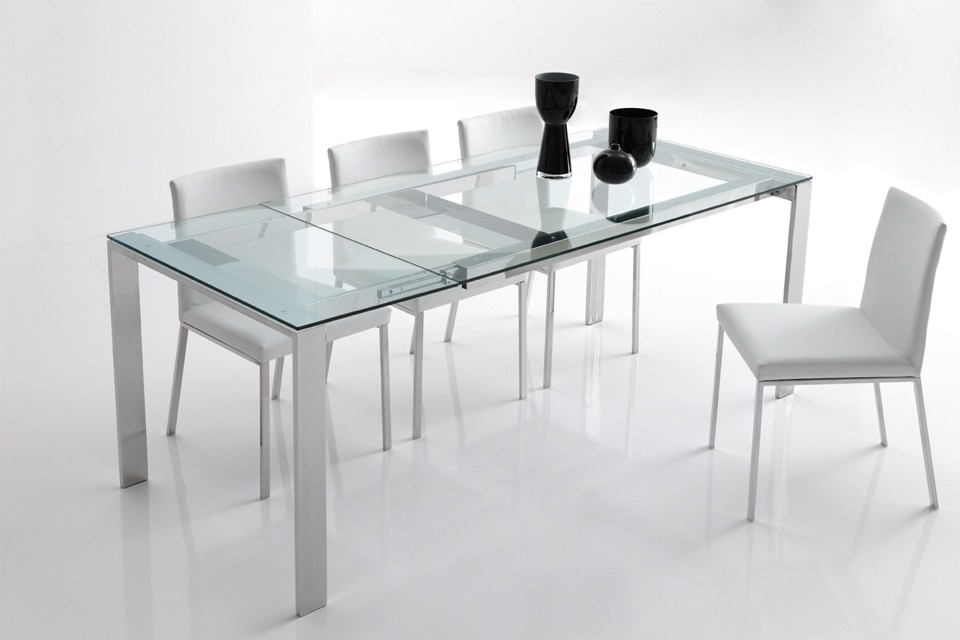 Mesa de comedor extensible mod paola altinox for Mesas de cristal extensibles para comedor