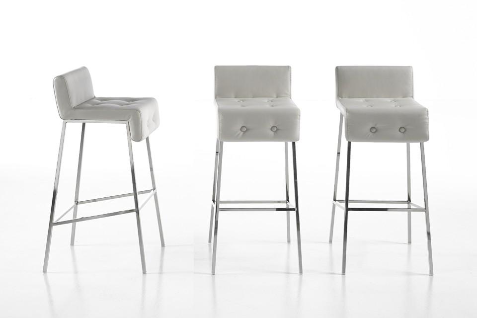 Mesas altas para cocina good mesa otiliarbl de madera lacada blanca de cms de dimetro with - Mesa alta con taburetes ...