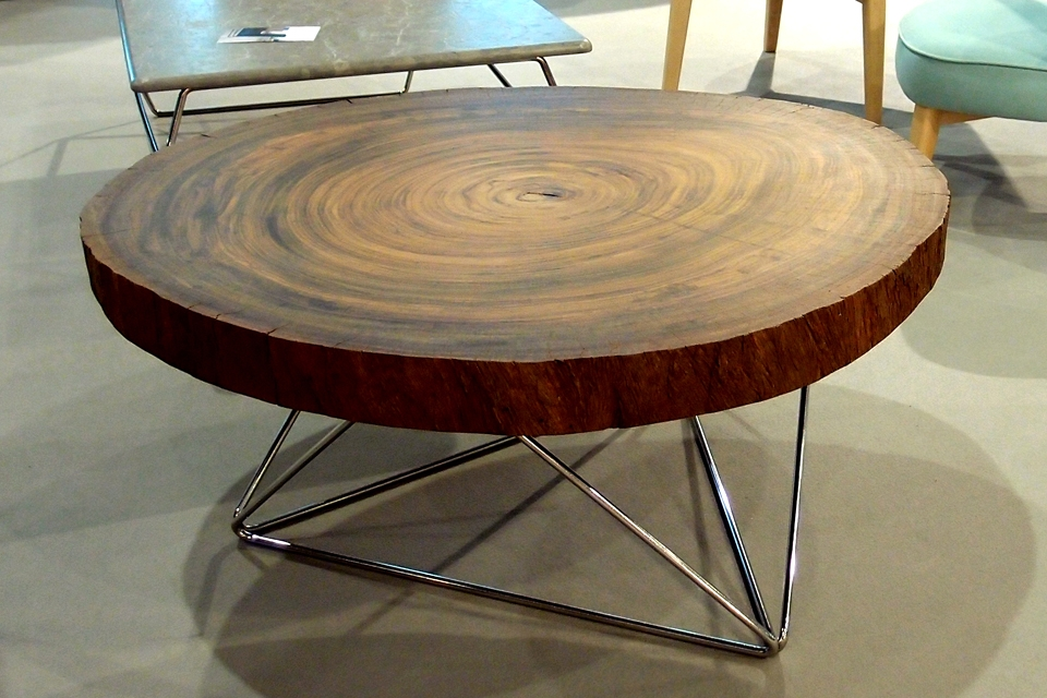 Mesa tali altinox - Mesas de troncos de madera ...